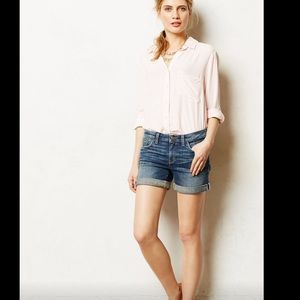 Anthropologie Stet Rolled Jean Shorts 29